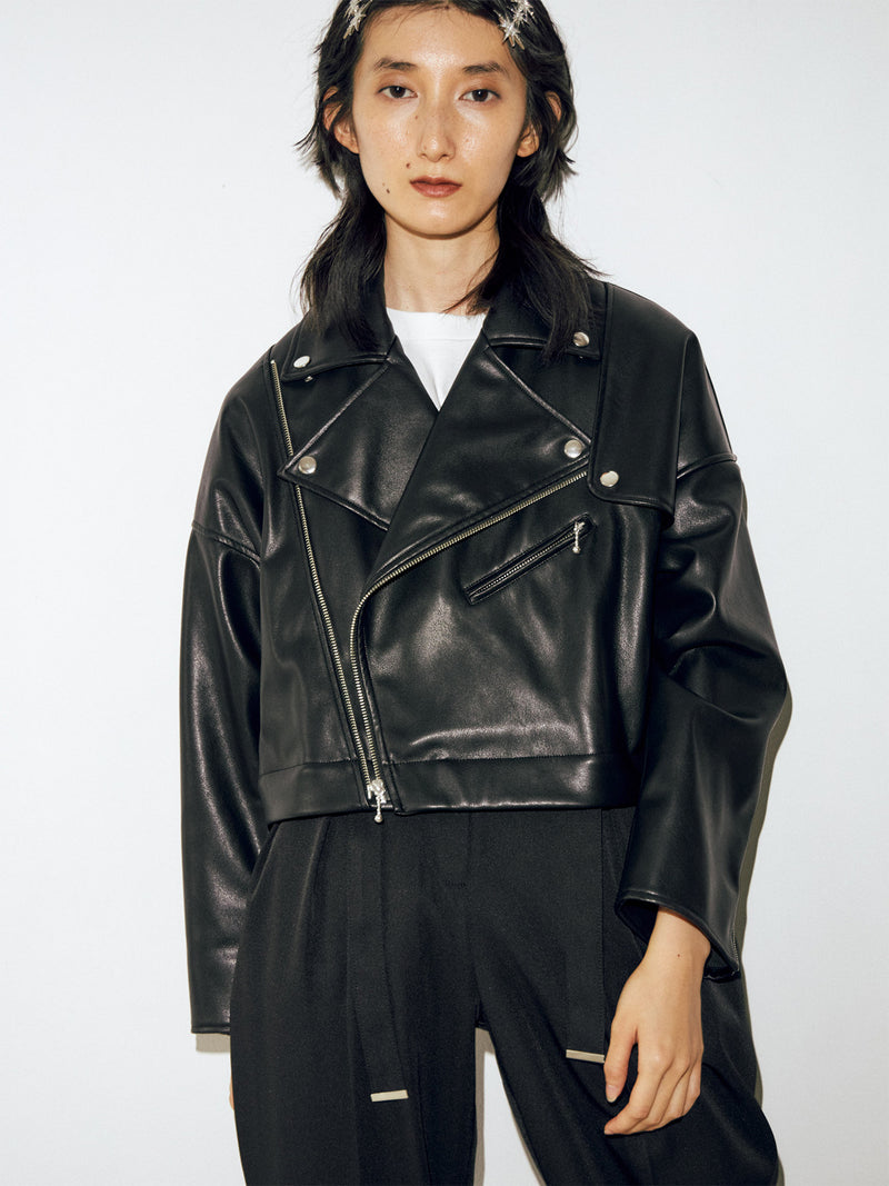 2way Leather Rider jacket coat