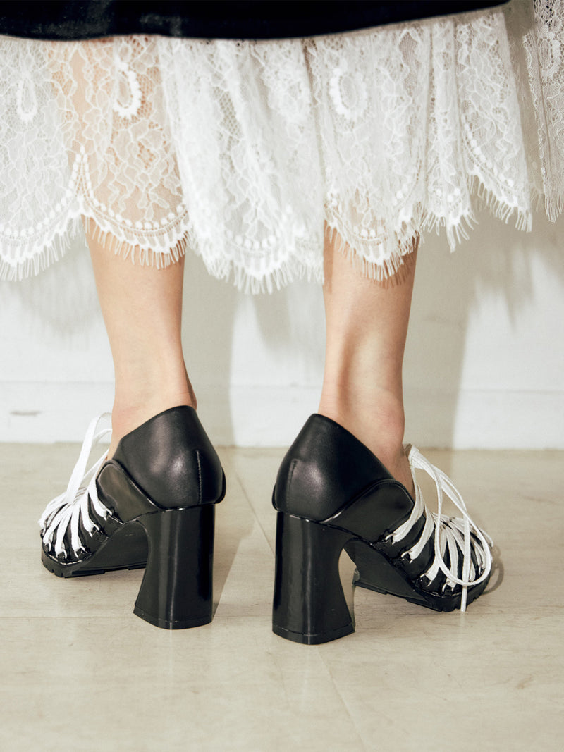 Ballet Heel Shoes  BLK