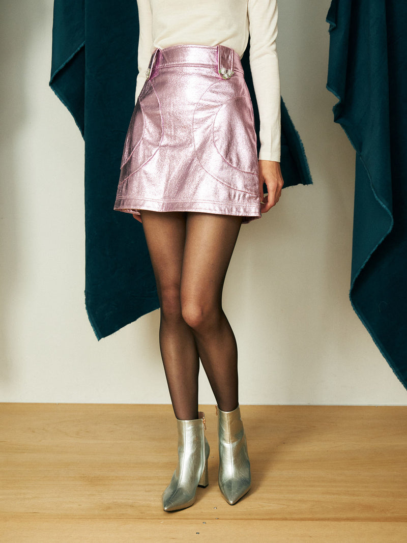 【KLOSET】Metallic Skirt