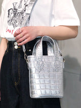 【CHANCE】FAUX CROC MINI SHOULDER BAG