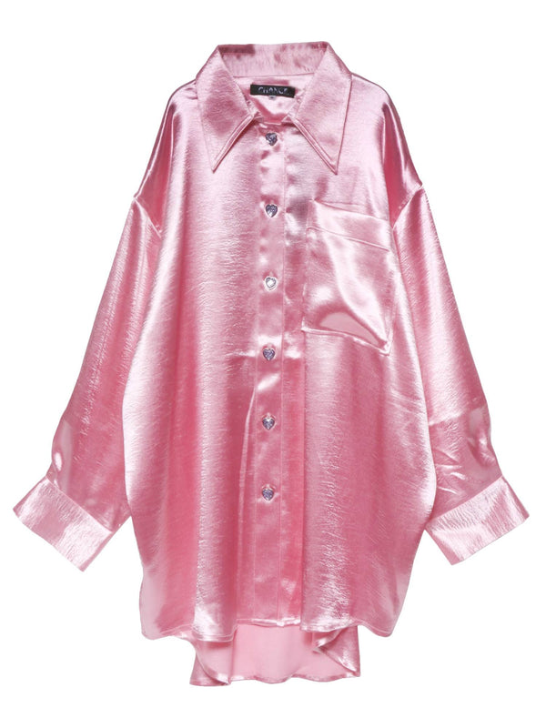 【CHANCE】OVERSIZE SATIN SHIRT