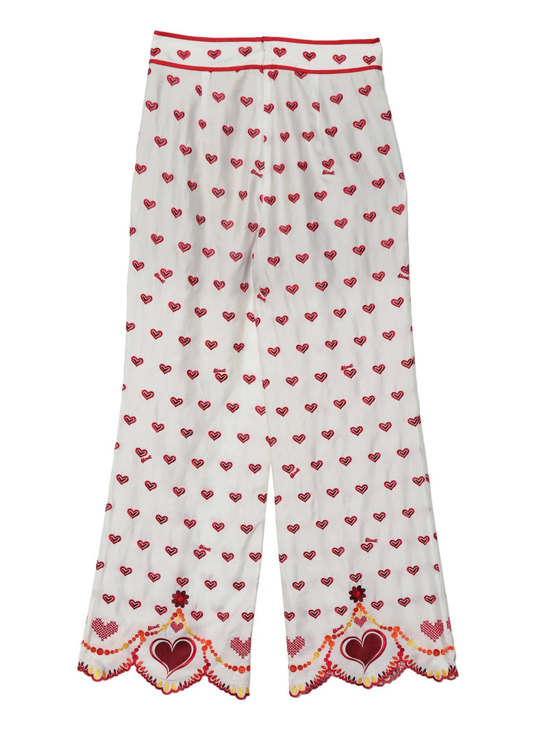 【KLOSETPRE】Chinese Heart Embroidered Pants