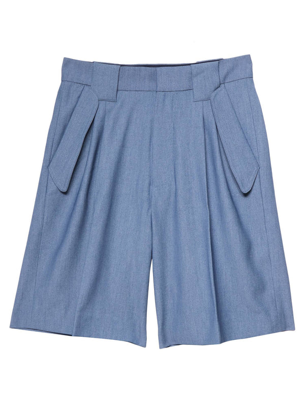 【CHANCE】PLEAT SHORTS
