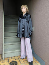 【CHANCE】PLEATED FLARED TROUSERS