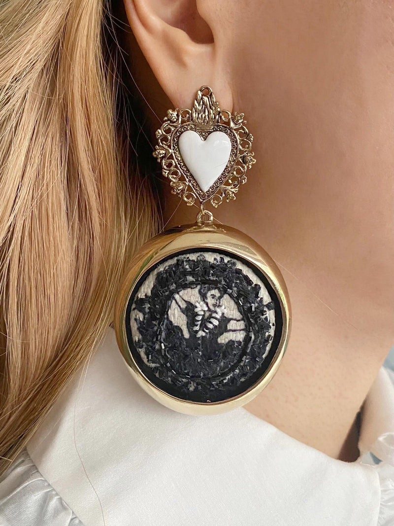 【KLOSETPRE】Catrina and Her Boyfriend Earrings