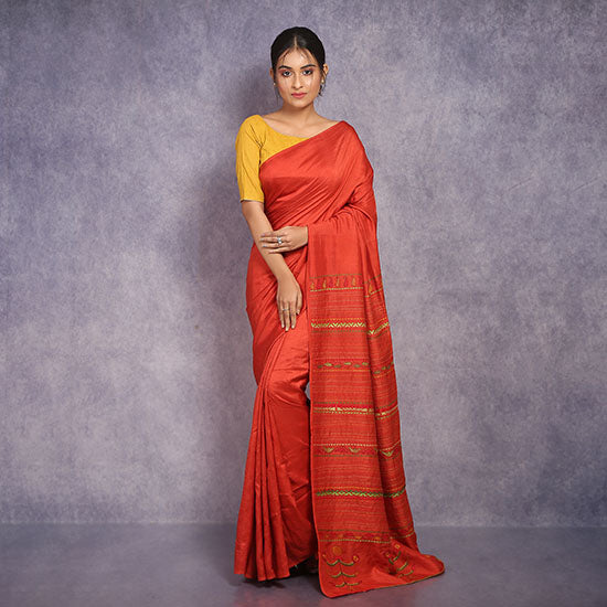 Kantha Embroidery Saree