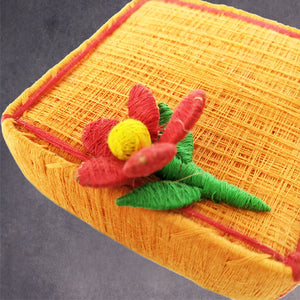 Square Coir Box -Flower