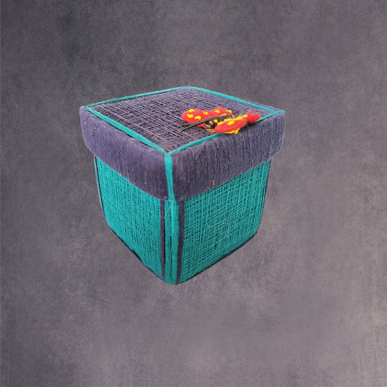 Square Coir Box -Butterfly