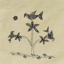 Load image into Gallery viewer, Hand Embroidered Cushion Cover - Bird on Tree Design