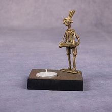 Load image into Gallery viewer, Dhokra Tribal Musician Candle Stand