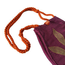 Load image into Gallery viewer, Long Silk Batua Bag-Leaf Design