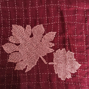 Maple Leaf Embroidered Stole