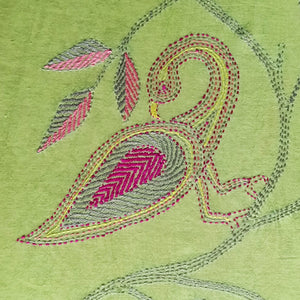 Hand Embroidery Stole-Bird Design