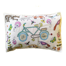 Load image into Gallery viewer, Hand Embroidered Cushion Cover - Cycle Design