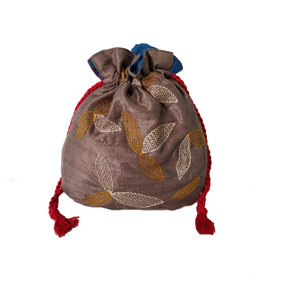 Embroidery Silk Batua Bag