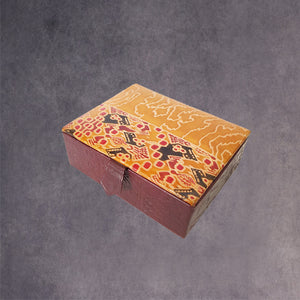 Embossed Leather Rectangle Box