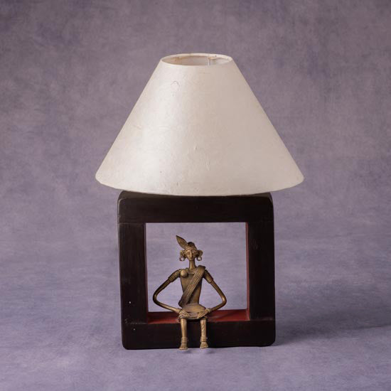 Lamp With Tribal Figure