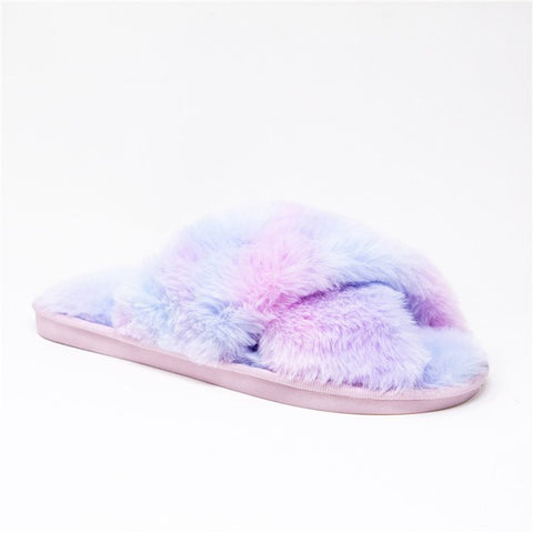 Purple Tie-Dye Slipper