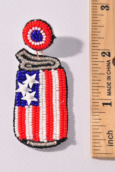 Can Can July 4th Earring