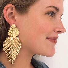 Double Leaf Gold Earring