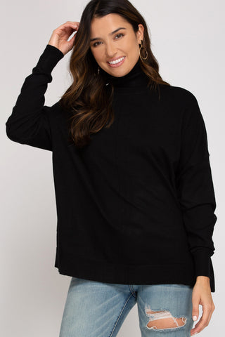 Casey Turtleneck- Black
