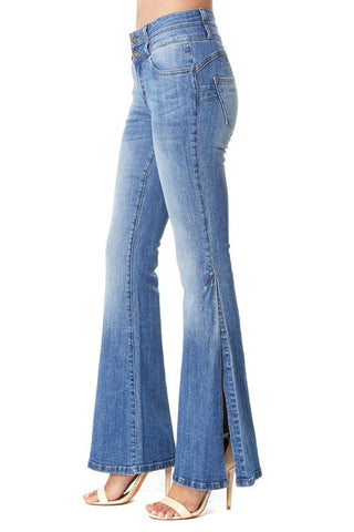 Denim Open Flare Jeans