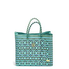 Lola's Small Tote, Turquoise Pattern