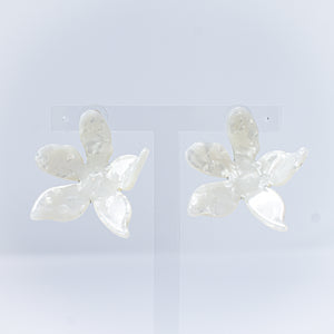Pearl Resin Flower Earring
