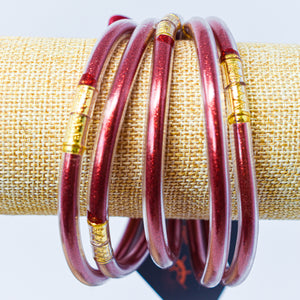 Jelly Bracelet Set Red