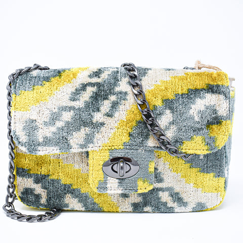 The Coco Yellow & Grey Bag