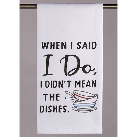I Didn't Mean Dishes
