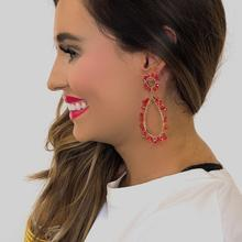 Corrine Red Earrings