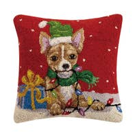Chihuahua Holiday Pillow