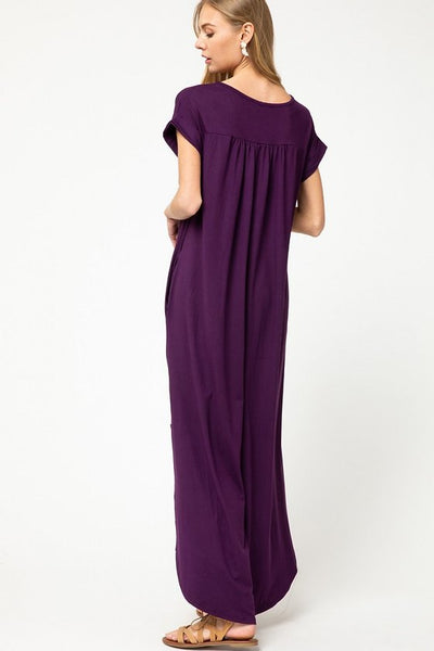 Chloe Plum Maxi Dress