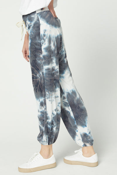 Laura Tie-Dye Jogger- Blueberry