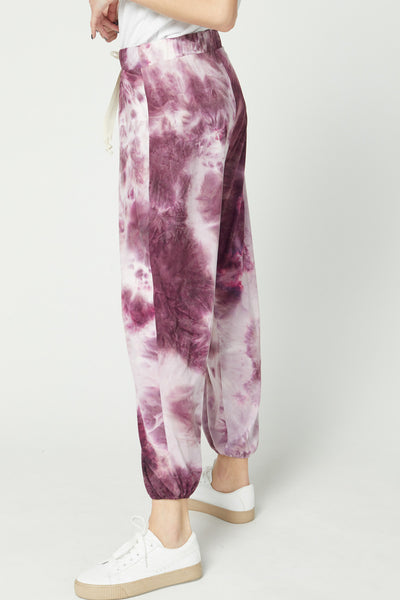Laura Tie-Dye Jogger- Berry