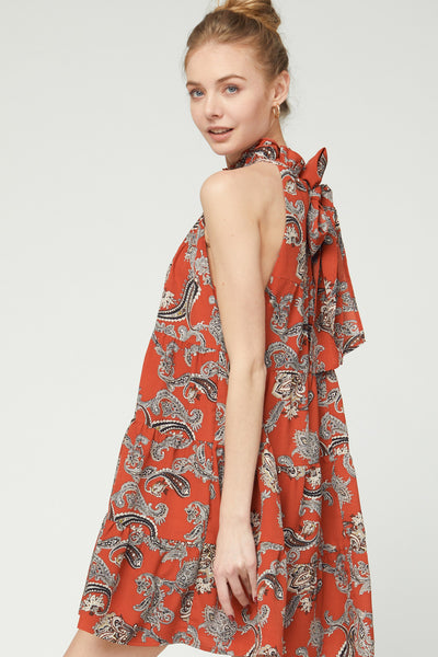 Tyler Tiered Paisley Dress