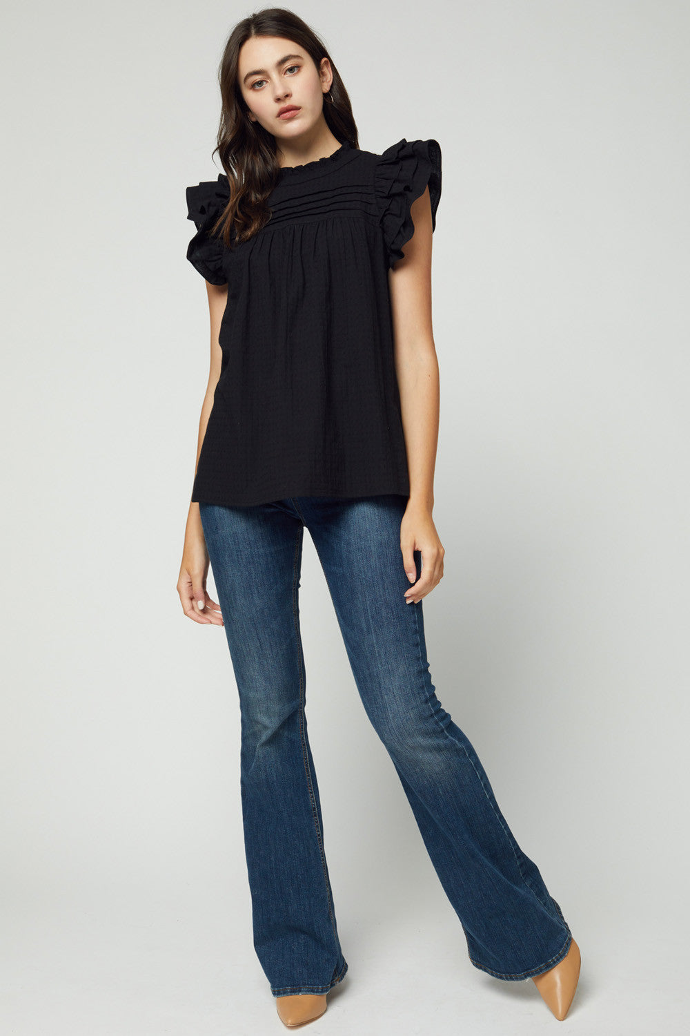 Conner Ruffle Trim Top