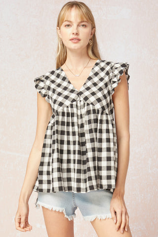 Ashton Gingham Top