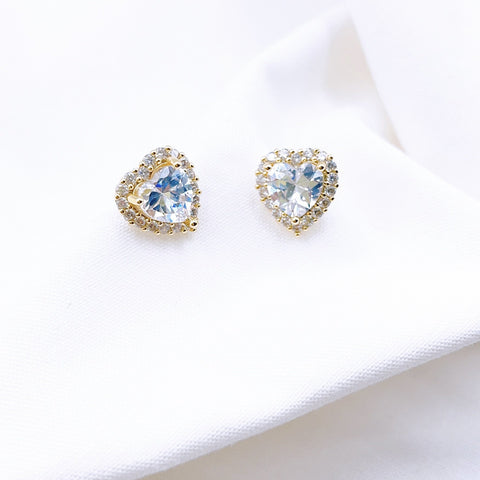Crystal Heart Stud