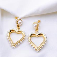 Gold Pearl Heart