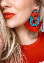 Sofia Red Earrings