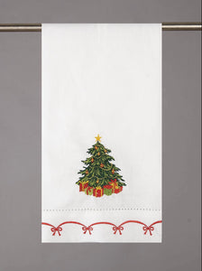 Linen Christmas Tree Towel