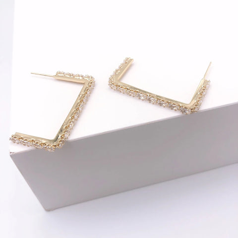 Lucy Small Rhinestone Earrings