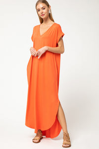 Chloe Orange Maxi Dress
