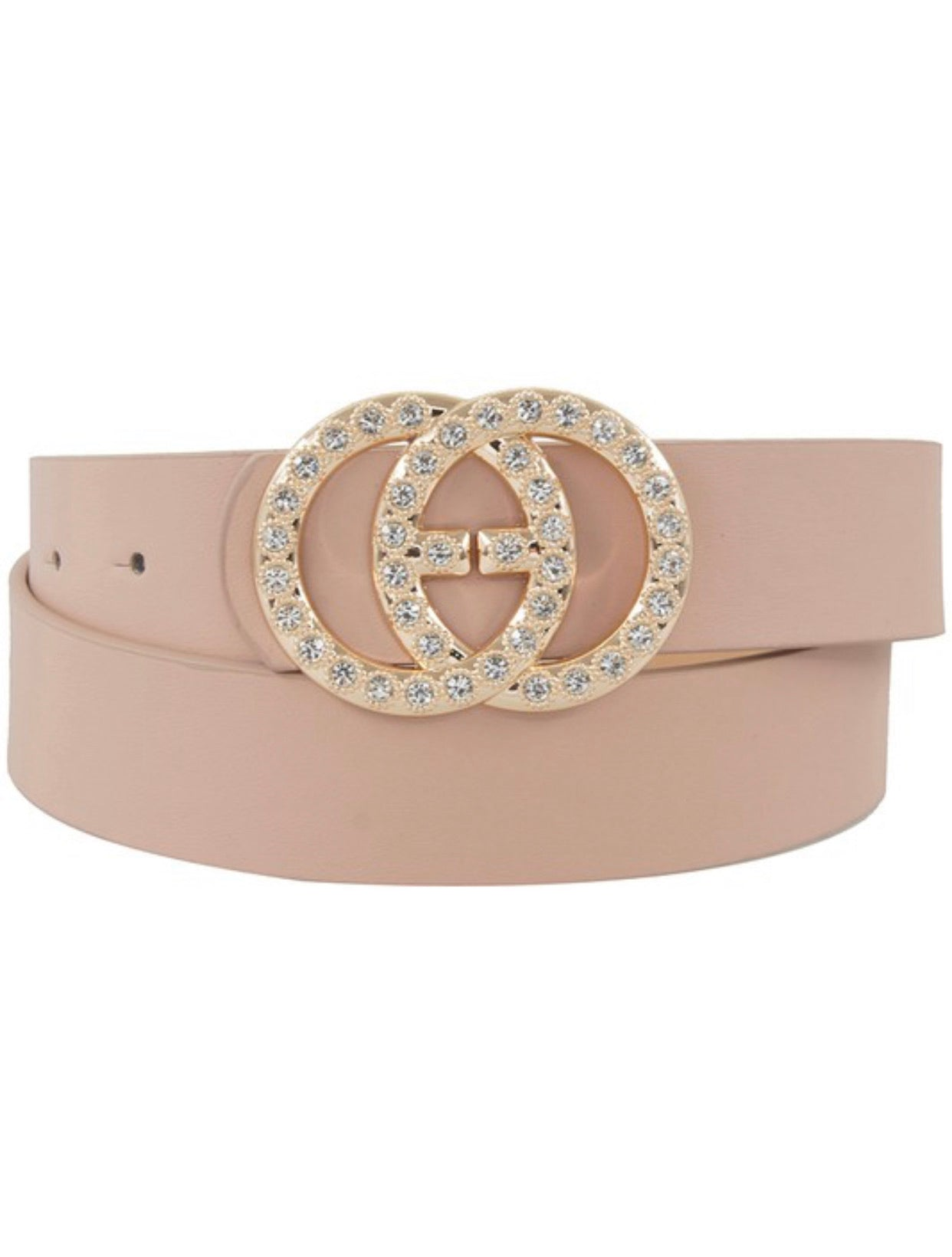 Blush Vegan Leather Belt