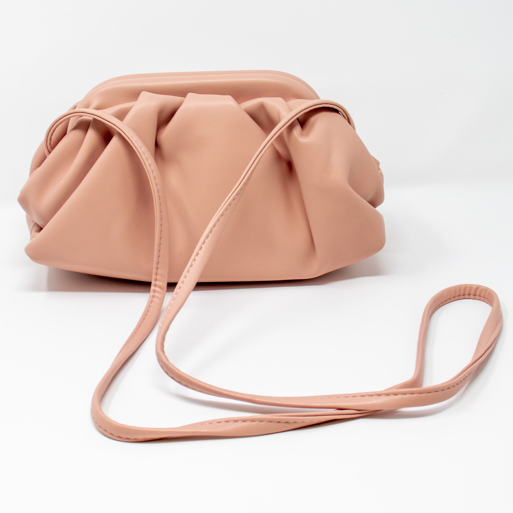 Blush Vegan Leather Clutch
