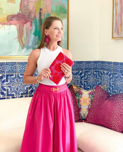 Mandy Hot Pink Maxi Skirt