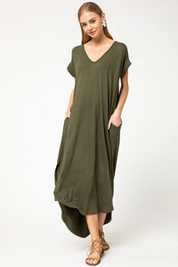 Chloe Olive Dress