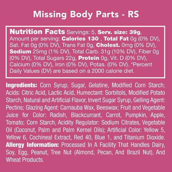 Missing Body Parts Gummies